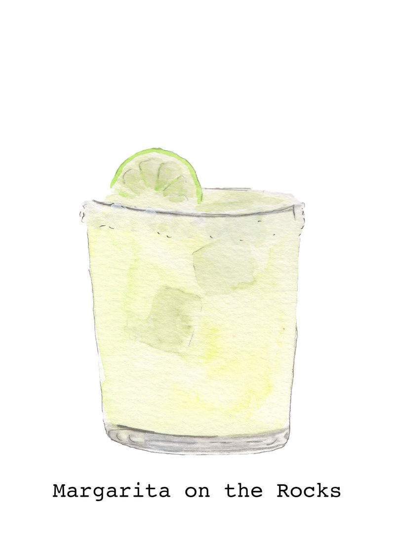 Watercolor Cocktail Fine Art Prints