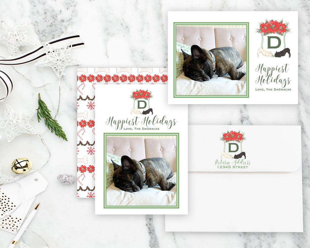 Custom Pet Painting Crest Holiday Cards