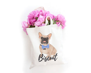 Personalized Masked Fawn French Bulldog Tote Bag