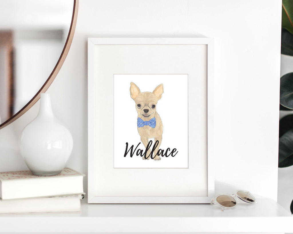 Personalized Chihuahua (Short Haired) Fine Art Prints