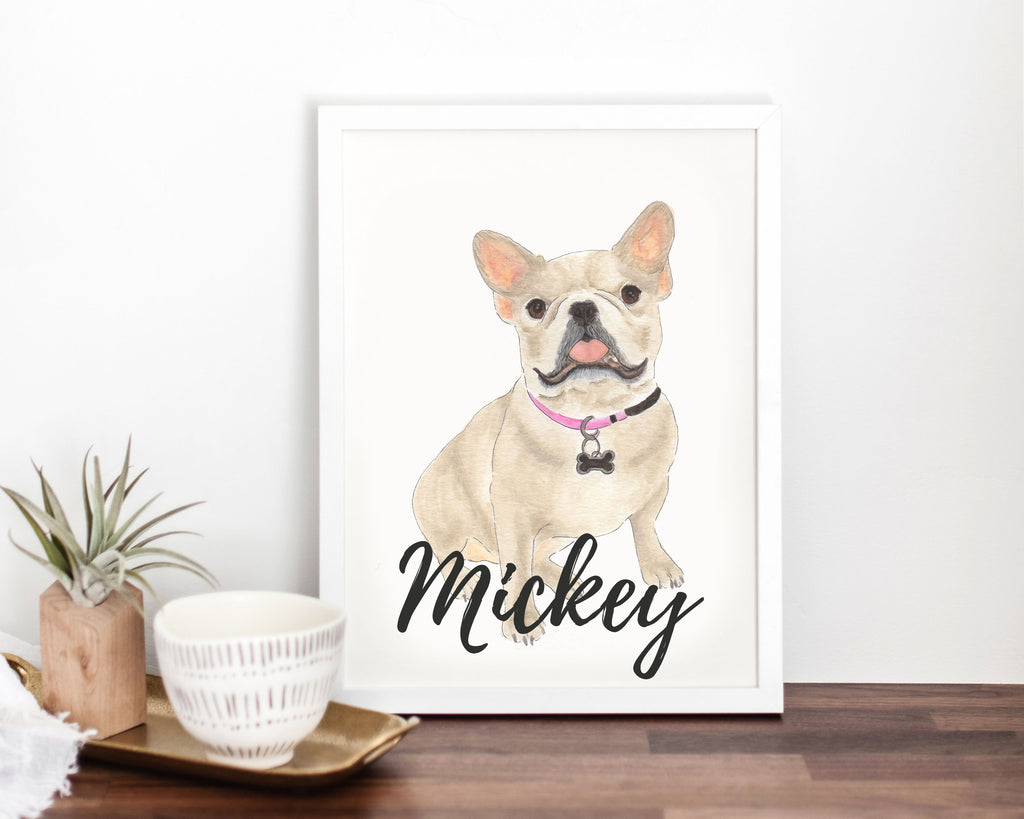 Personalized Fawn French Bulldog Fine Art Prints
