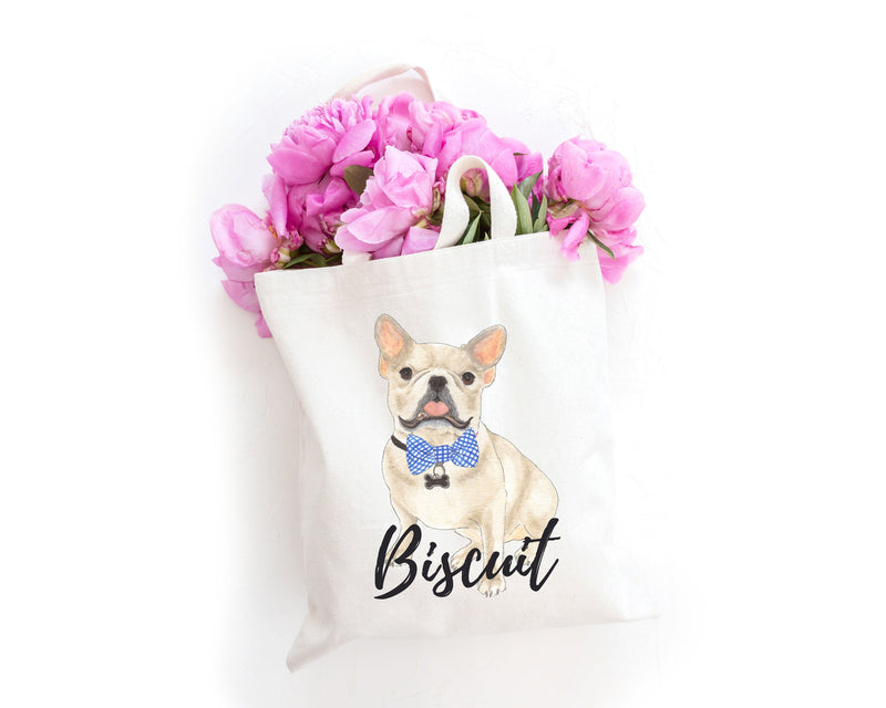 Personalized Fawn / Cream French Bulldog Tote Bag