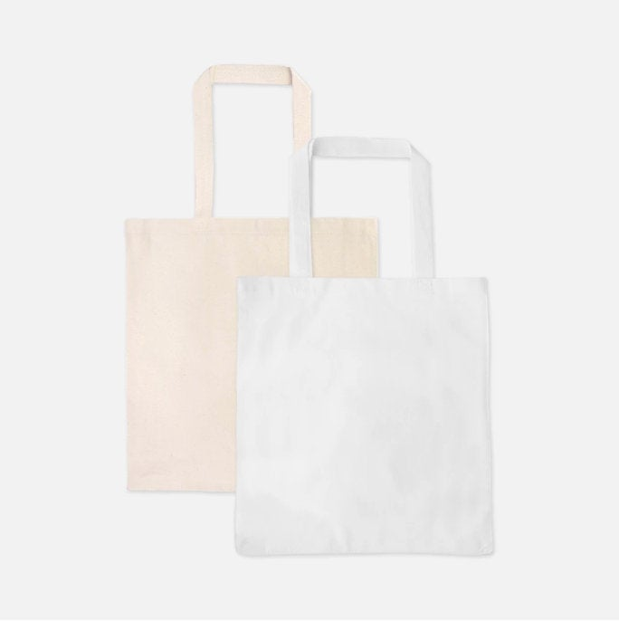 Personalized White Floof Tote Bag