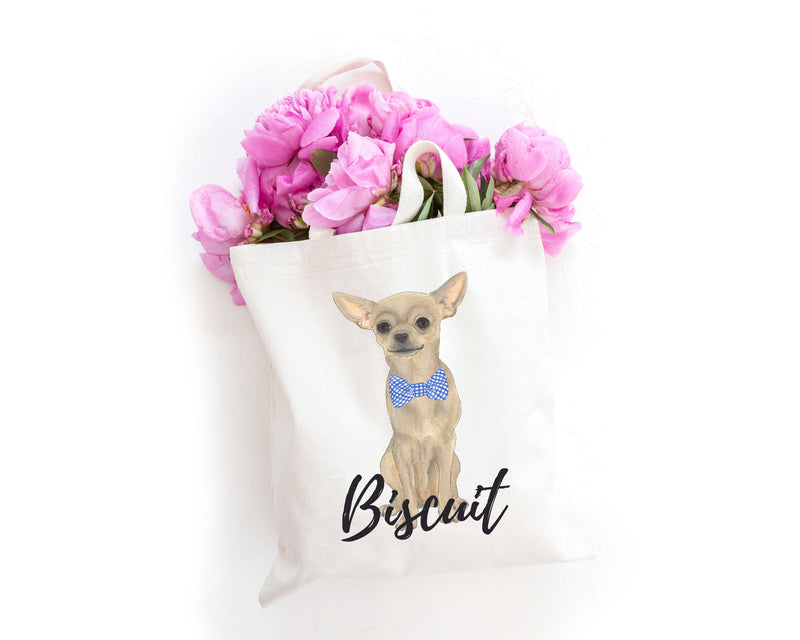 Personalized Fawn Chihuahua Tote Bag