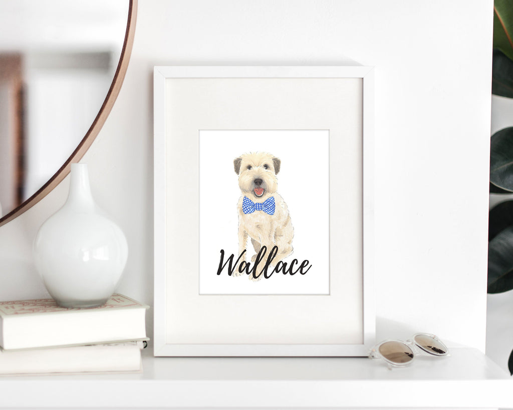 Personalized Wheaten Terrier Fine Art Prints