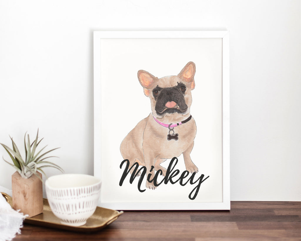 Personalized Masked French Bulldog Fine Art Prints