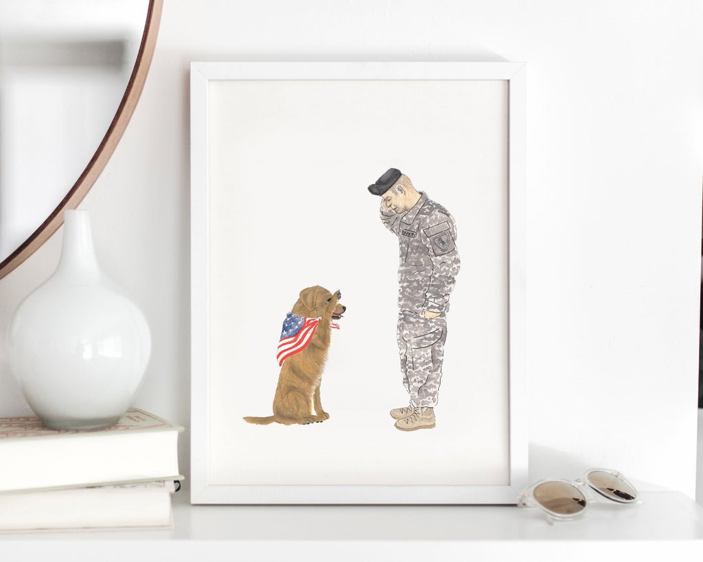 Custom Dog Dad Painting