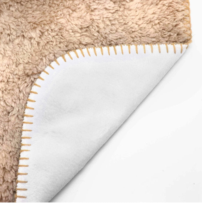 Personalized Fawn / Cream French Bulldog Sherpa Throw Blanket