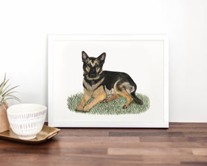 Custom Pet Painting (Landscape Style)