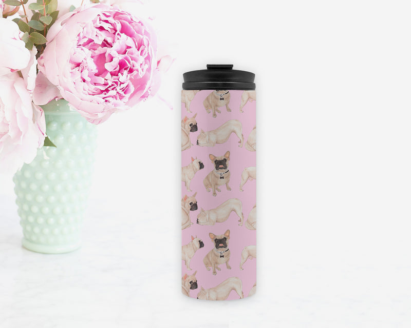 Masked French Bulldog Travel Coffee Mug
