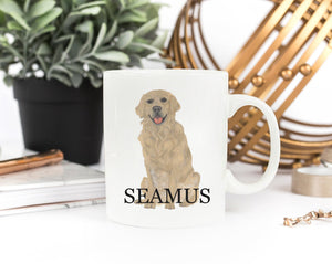 Personalized Golden Retriever Ceramic Mug
