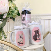 White / Pied French Bulldog Travel Coffee Mug