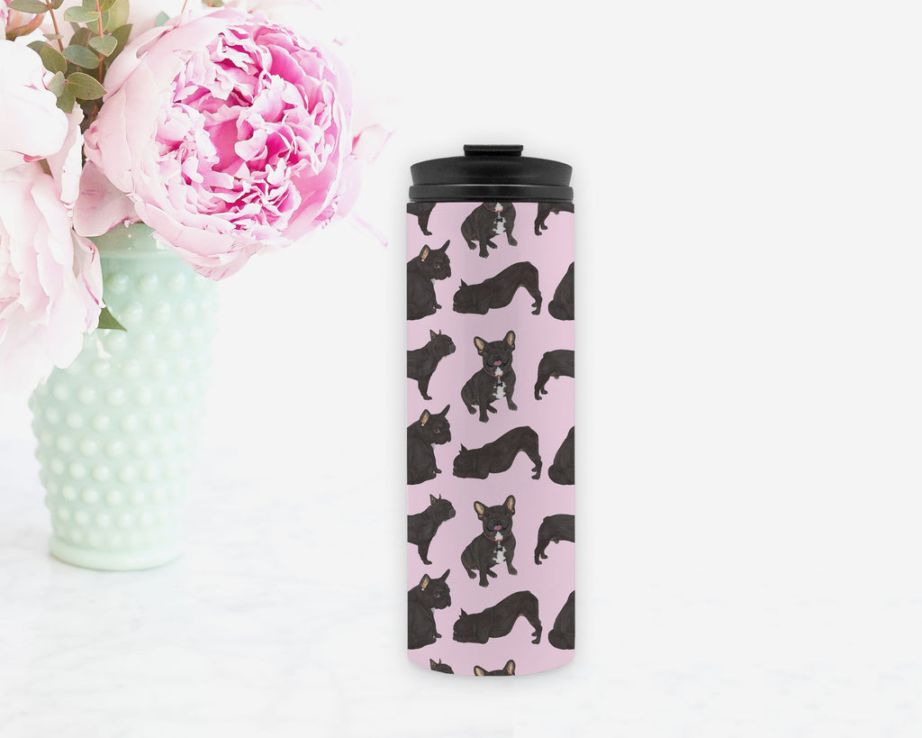Black / Brindle French Bulldog Travel Mug
