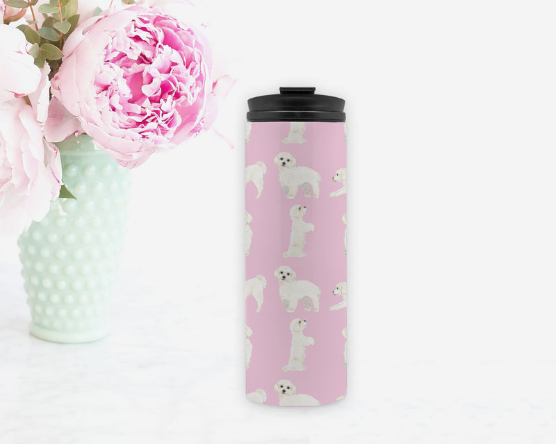 White Floof Travel Coffee Mug