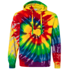 The Nifty Hippie Embroidered Tie-Dyed Pullover Hoodie