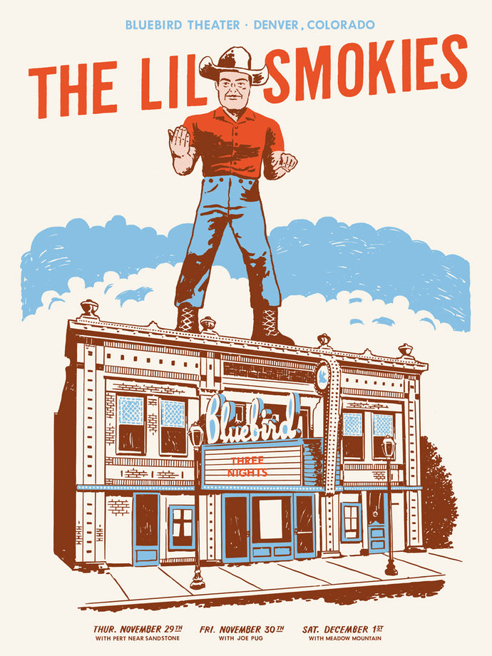The Lil Smokies - Bluebird Theater Limited Edition Poster