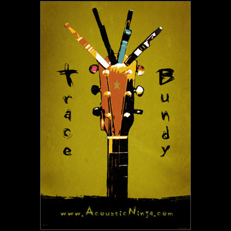 Trace Bundy - Poster - Guitar with Capos