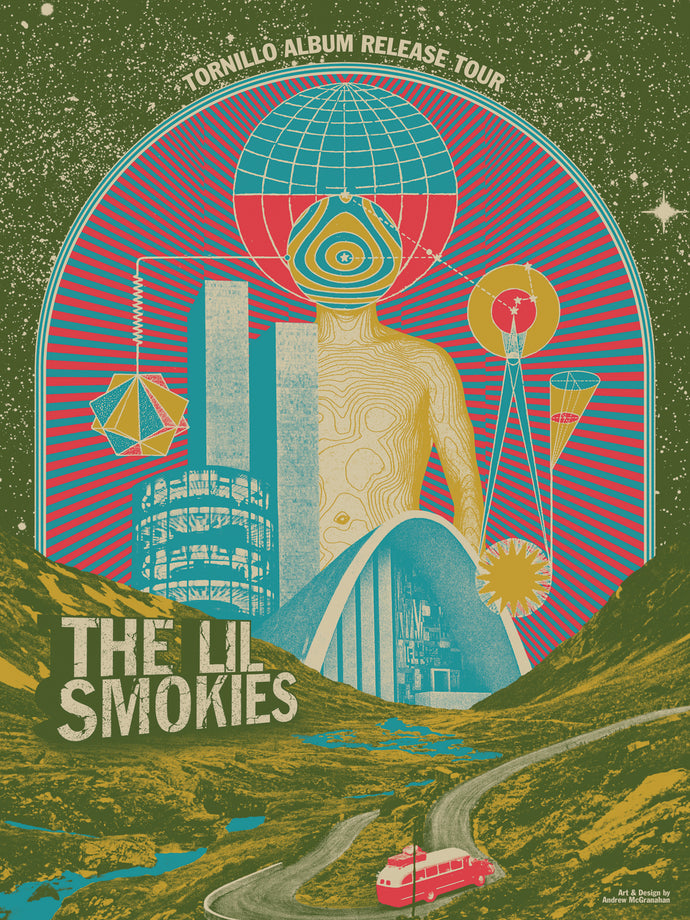 The Lil Smokies - Tornillo Album Release Tour Poster
