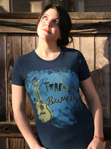 Trace Bundy - Birds & Acoustic Guitar Shirt - Women's