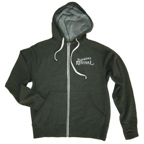 Elephant Revival - Tree Roots Zip Hoodie Green