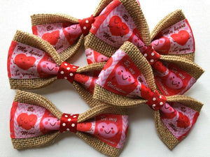"DOG BOW TIES - Valentine's Day ""My Heart Is Yours"""