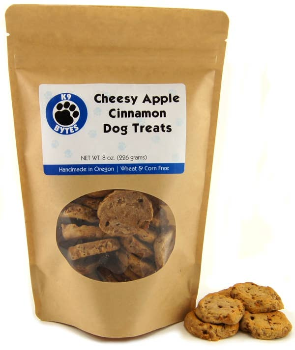 K9 Bytes, Inc. - 8oz Cheesy Apple Cinnamon Dog Treats