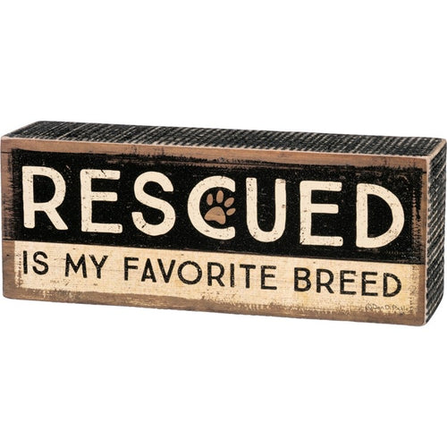 Box Sign - Rescued