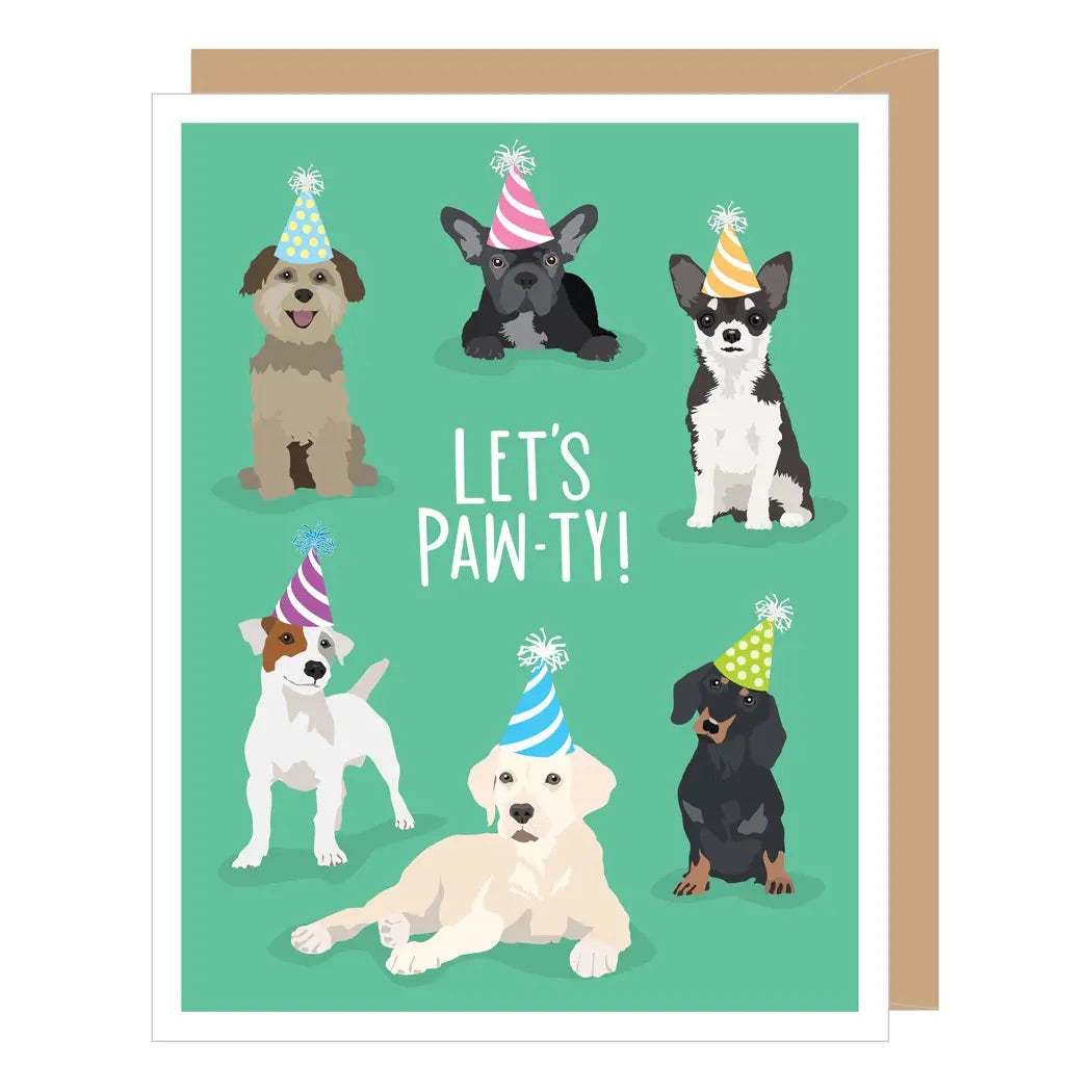 Apartment 2 Cards - Birthday - Let's Paw-ty Dogs