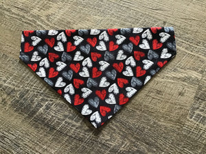 Red/Black/White Hearts