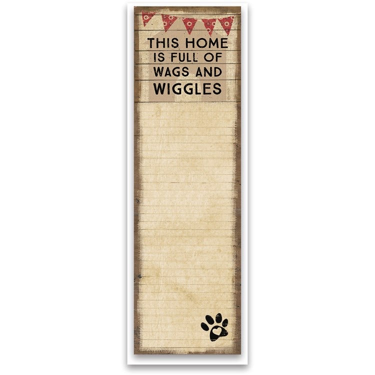 Note Pad - Wags and Wiggles