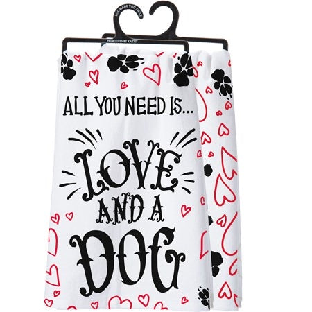 Dish Towel - Love and a Dog