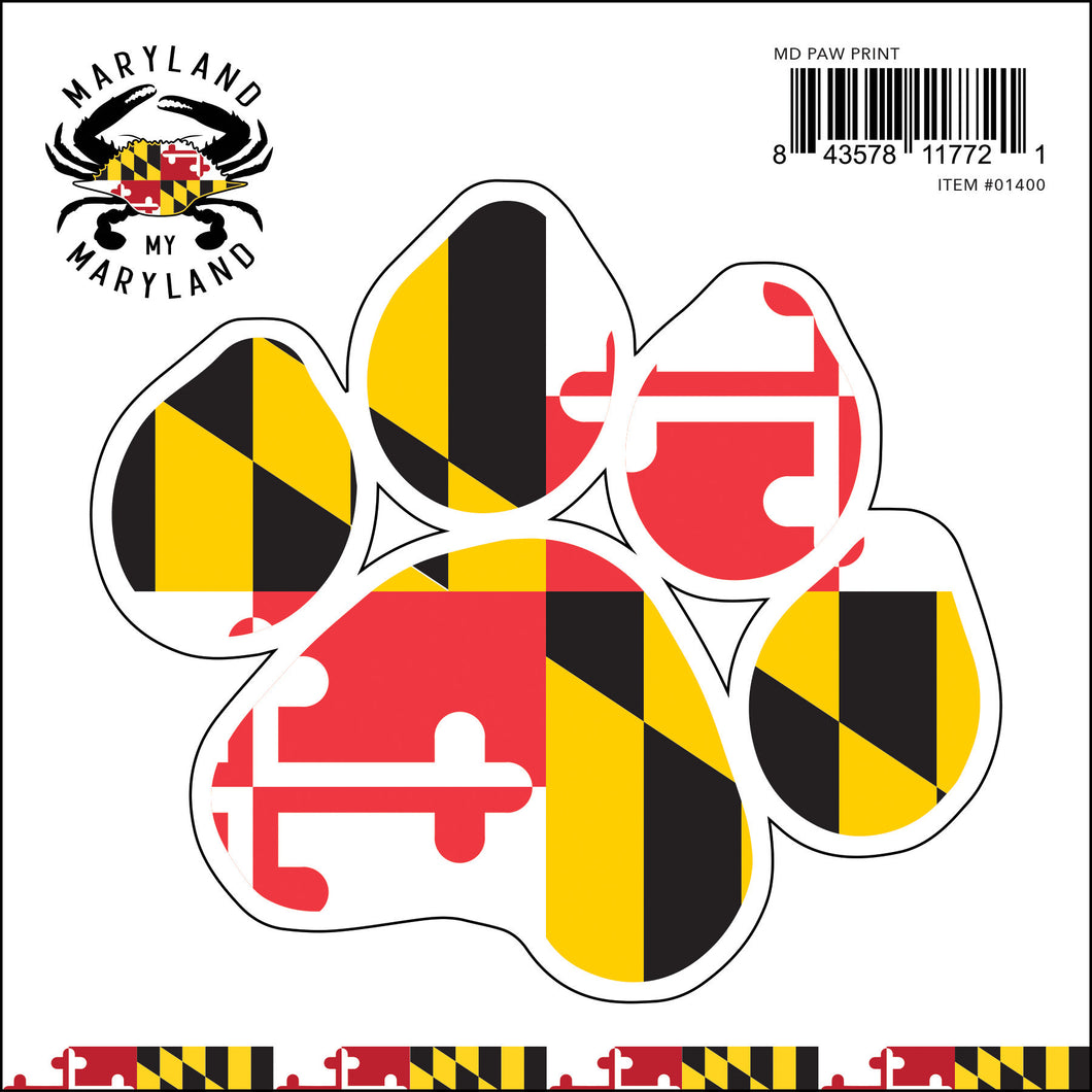 Maryland My Maryland - Paw Sticker
