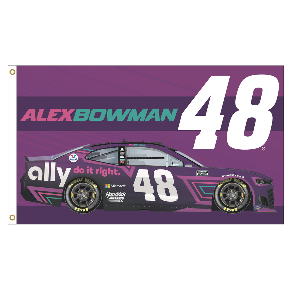 Alex Bowman 2021 Ally #48 Driven NASCAR 3x5 Flag