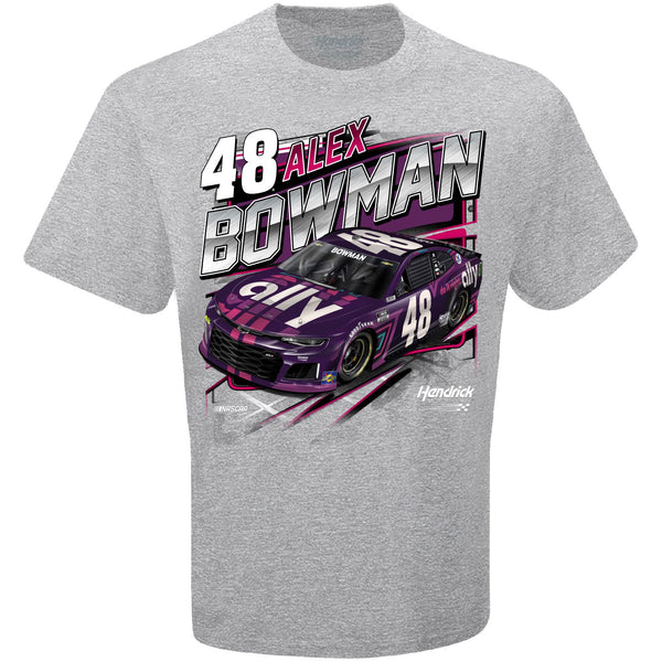 Alex Bowman 2021 Ally Competition #48 NASCAR T-Shirt Gray