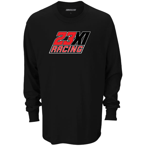 NASCAR 2021 Team Logo 23XI Jordan/Hamlin Long Sleeve Bubba Wallace #23 T-Shirt Black