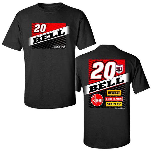 Christopher Bell 2021 Quick Crew #20 NASCAR T-Shirt Black