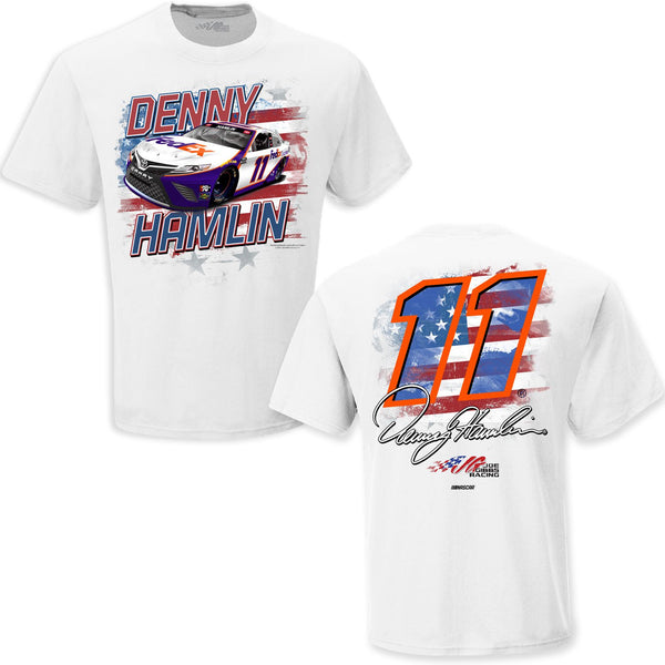 Denny Hamlin 2021 FedEx Old Glory #11 NASCAR T-Shirt White