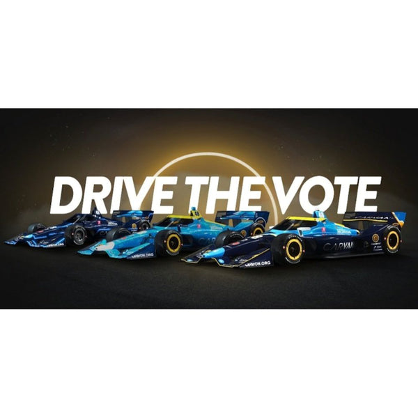 Jimmie Johnson 1:64 Standard 2021 Indy Grand Prix Drive The Vote IndyCar Series Diecast Car Preorder - September Projected Ship Date