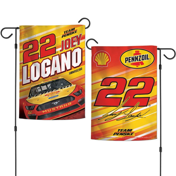 Joey Logano Shell Pennzoil #22 NASCAR Two Sided Garden Flag