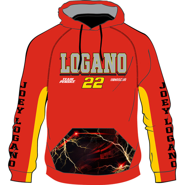 Joey Logano 2020 Sublimated #22 NASCAR Performance Hoodie Red