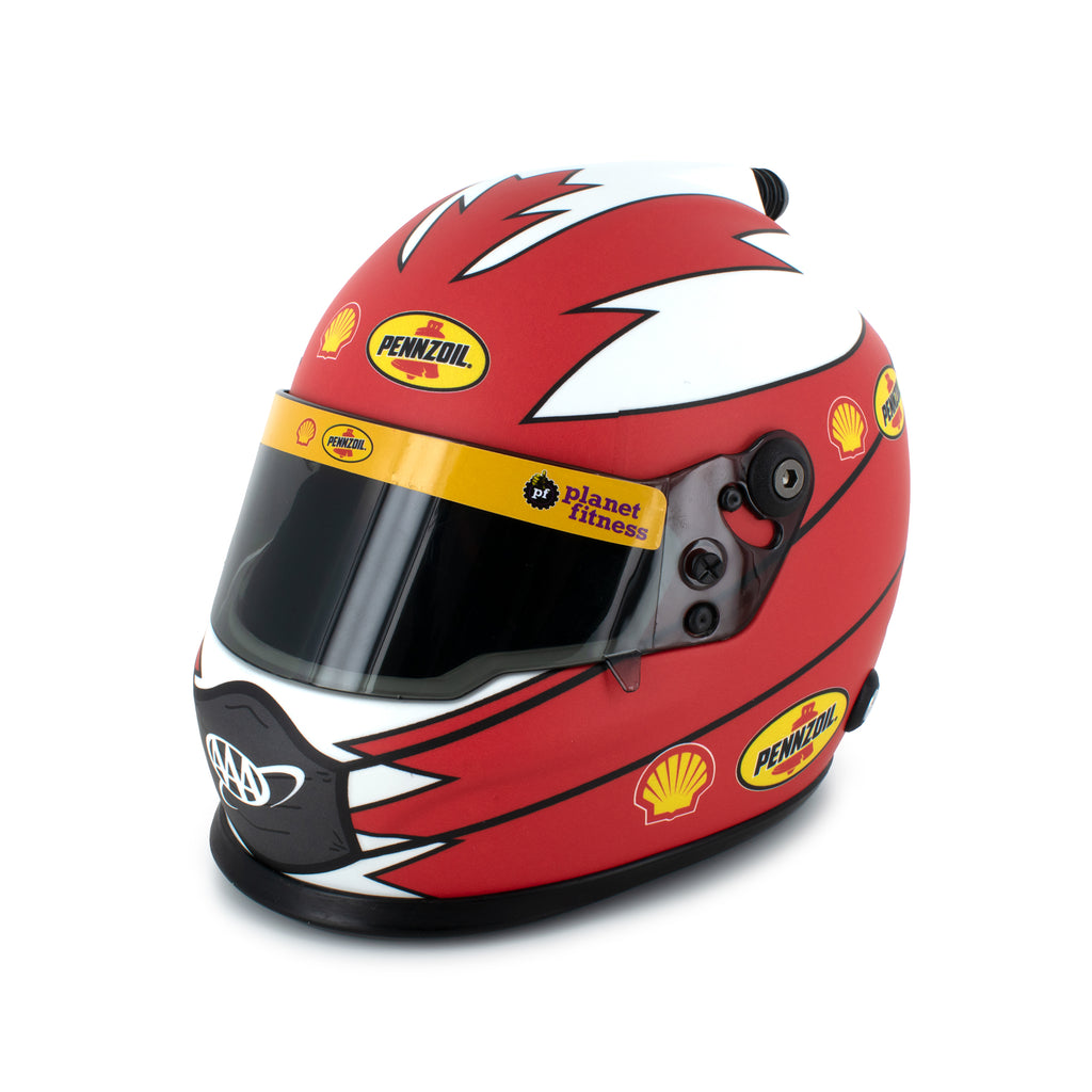 Joey Logano Collectible Shell Pennzoil / COVID-19 Mask #22 NASCAR Replica Mini Helmet