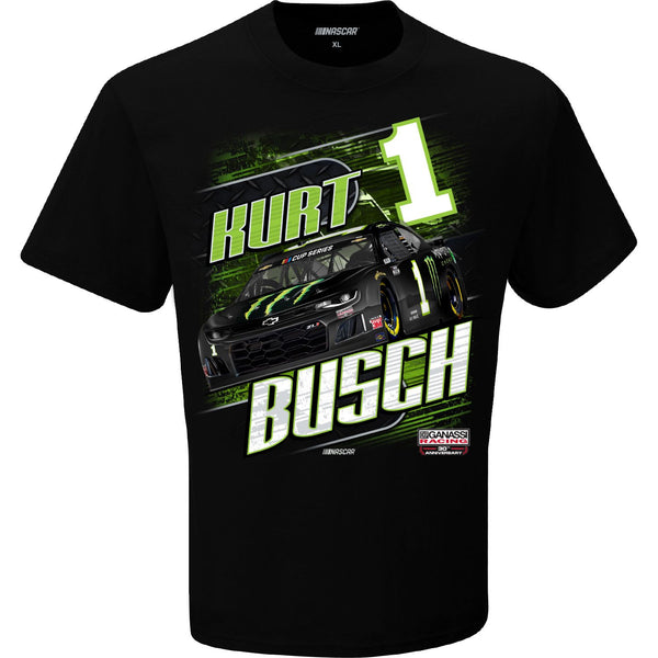 Kurt Busch 2020 Monster Energy Camber #1 NASCAR T-Shirt Black