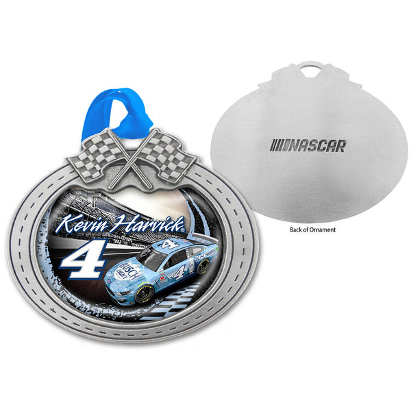 Kevin Harvick 2020 Car Pewter Metal Busch Light #4 NASCAR Christmas Ornament