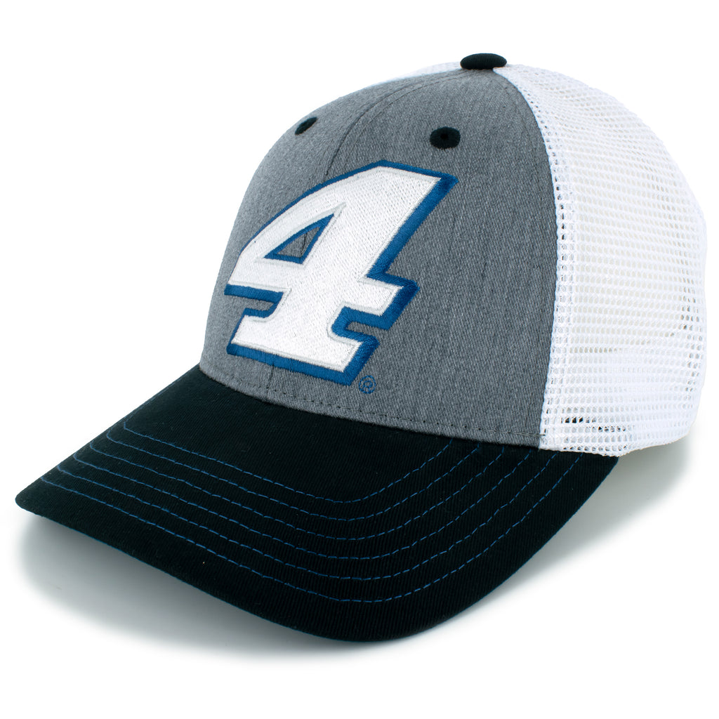 Kevin Harvick 2021 Athletic Snapback Mesh #4 NASCAR Hat White