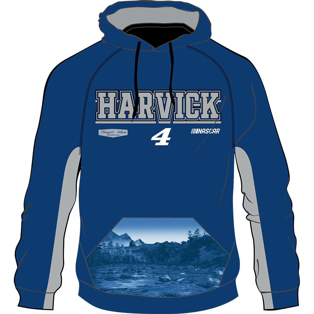 Kevin Harvick 2020 Sublimated #4 NASCAR Performance Hoodie Blue