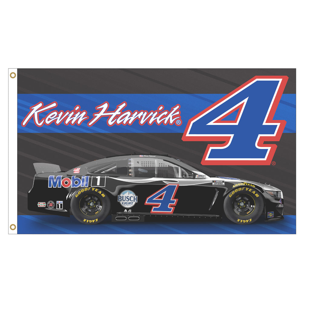 Kevin Harvick 2021 Mobil 1 #4 Driven NASCAR 3x5 Flag