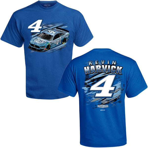 Kevin Harvick 2021 Busch Light Fuel #4 NASCAR T-Shirt Blue