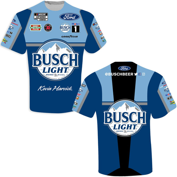 Kevin Harvick 2021 Busch Light Sublimated Uniform #4 NASCAR T-Shirt Blue