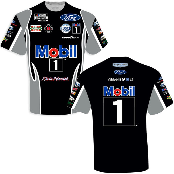 Kevin Harvick 2021 Mobil 1 Sublimated Uniform #4 NASCAR T-Shirt Black