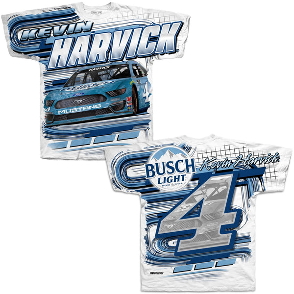 Kevin Harvick 2021 Busch Light Total Print #4 NASCAR T-Shirt White